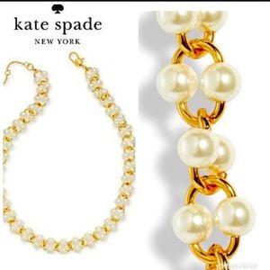 New kate spade GoldTone Imitation Pearl Necklace